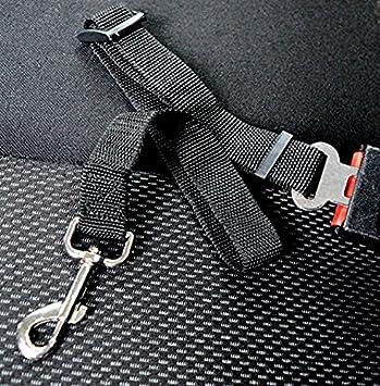 Cintur/ón de Seguridad de Coche para Perros Ploopy Cinturon de Seguridad Perros Cintur/ón de Nylon para Trasportar Mascotas Rojo, 2 Pack