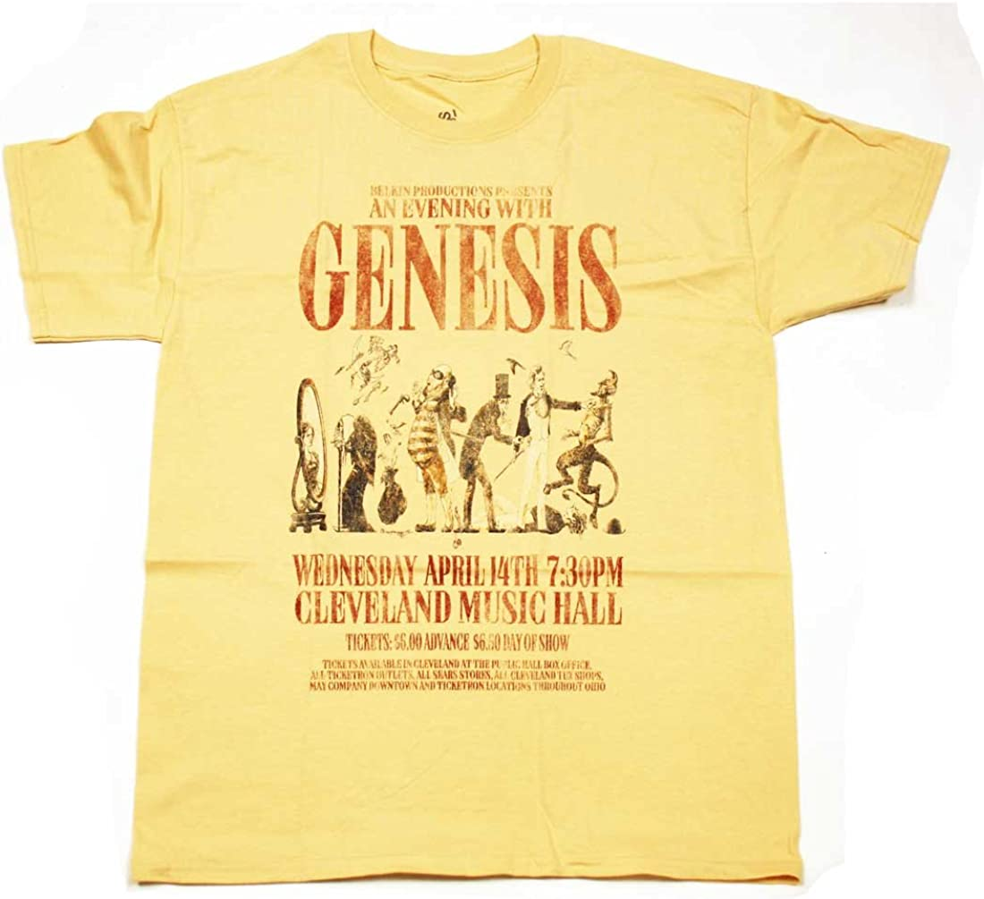 Genesis T Shirt - Trick of The Tail Tour Replica Cleveland Music Hall 100% Official