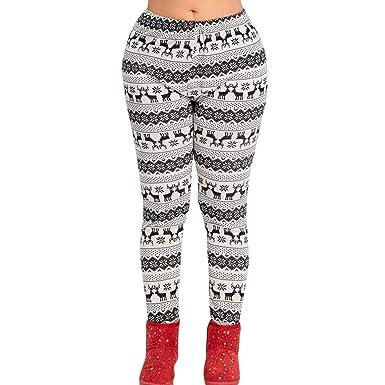 192a99c823 SUJING Women's Christmas Print Mid Waist Yoga Pants Fitness Sports Gym Stretch  Pants Yoga Leggings (