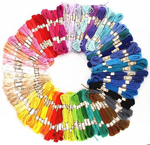 100 échevettes de fil mouliné 100% coton