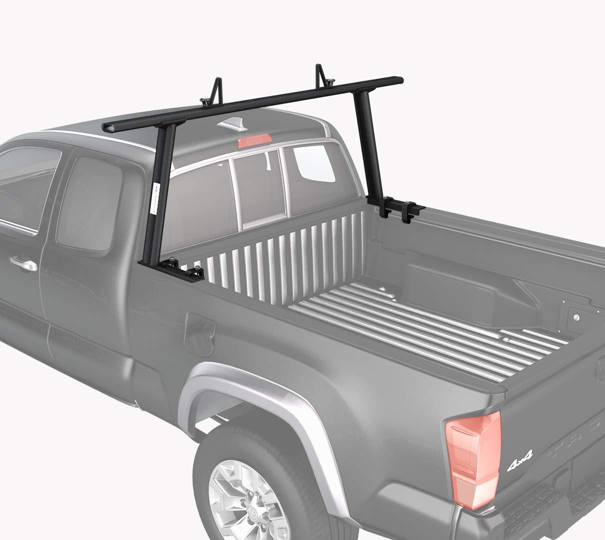 Sandy White AA-Racks APX25-A-WG-E Aluminum Headache Rack Semi Pickup Truck Rack w//Cantilever Extension Back Rack