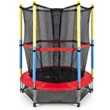 Soogo Mini Round Trampoline with Net for Kids Party Exercise and Fitness