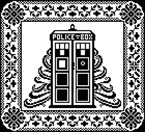 Tardis Table Topper: Time and Space in Filet -