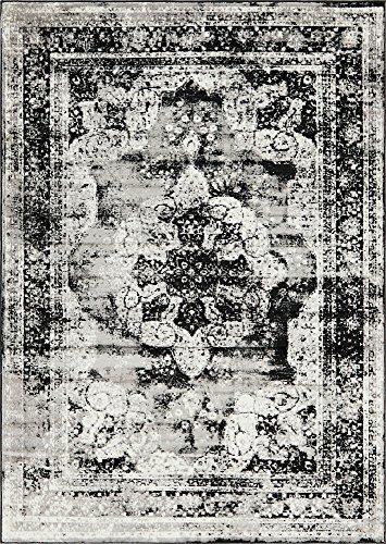 Unique Loom 3141424 Area Rug, 7' x 10', Black
