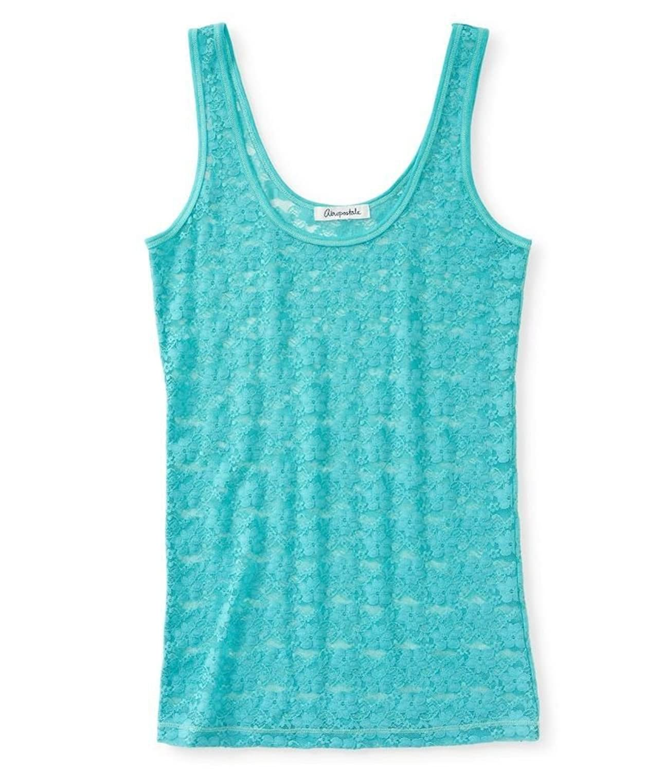 Aeropostale Womens Sheer Lacey Tank Top