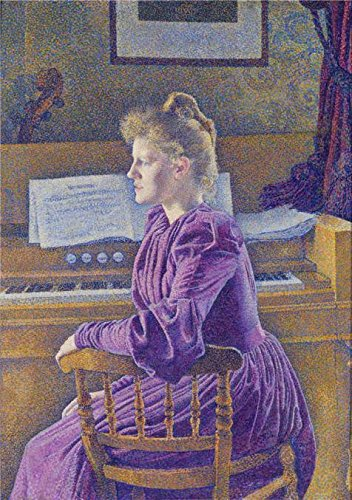 Oil Painting 'Theo Van Rysselberghe,Maria Sethe At The Harmonium,1862-1926', 20 x 28 inch / 51 x 72 cm , on High Definition HD canvas prints is for Gifts And Gym, Kids Room And Study Room Decoration