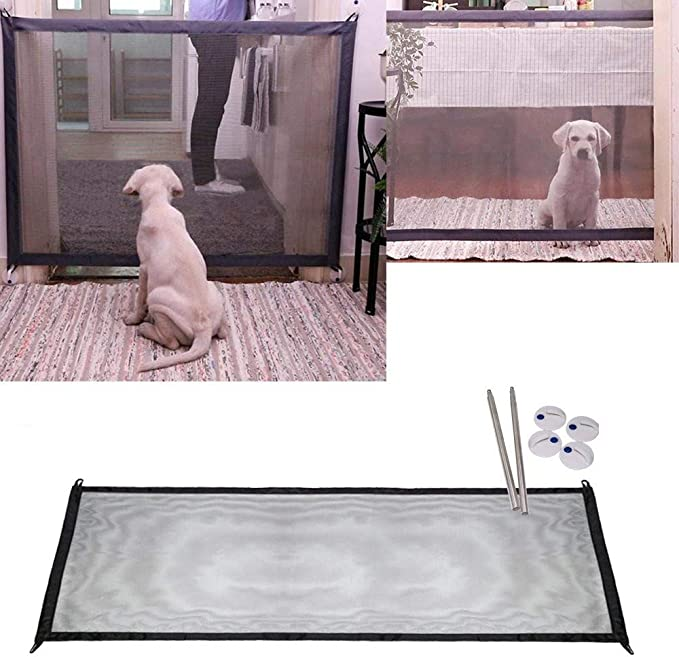 NiLeFo - Red mágica para Perro, Puerta de Escalera, Puerta de Coche, Barrera de Seguridad portátil Plegable: Amazon.es: Productos para mascotas