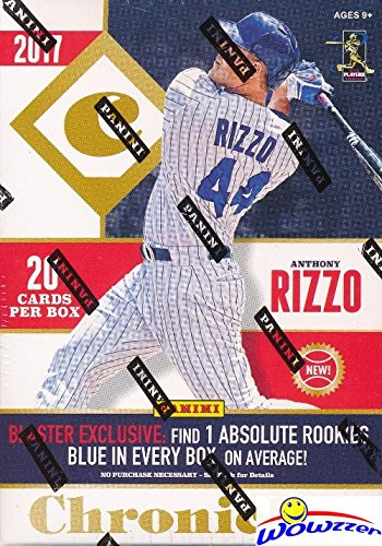 2017 Panini Chronicles Baseball EXCLUSIVE Factory Sealed Retail Box with SPECIAL Blue Absolute ROOKIE! Look for RC's & Autographs from Aaron Judge, Cody Bellinger, Rhys Hoskins & Many More! WOWZZER!