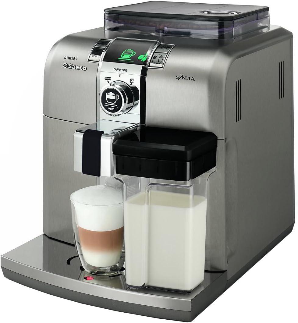Saeco Syntia HD8838/08 - Cafetera (Independiente, Máquina espresso, 1,2 L, Molinillo integrado, 1400 W, Gris, Acero inoxidable): Amazon.es: Hogar