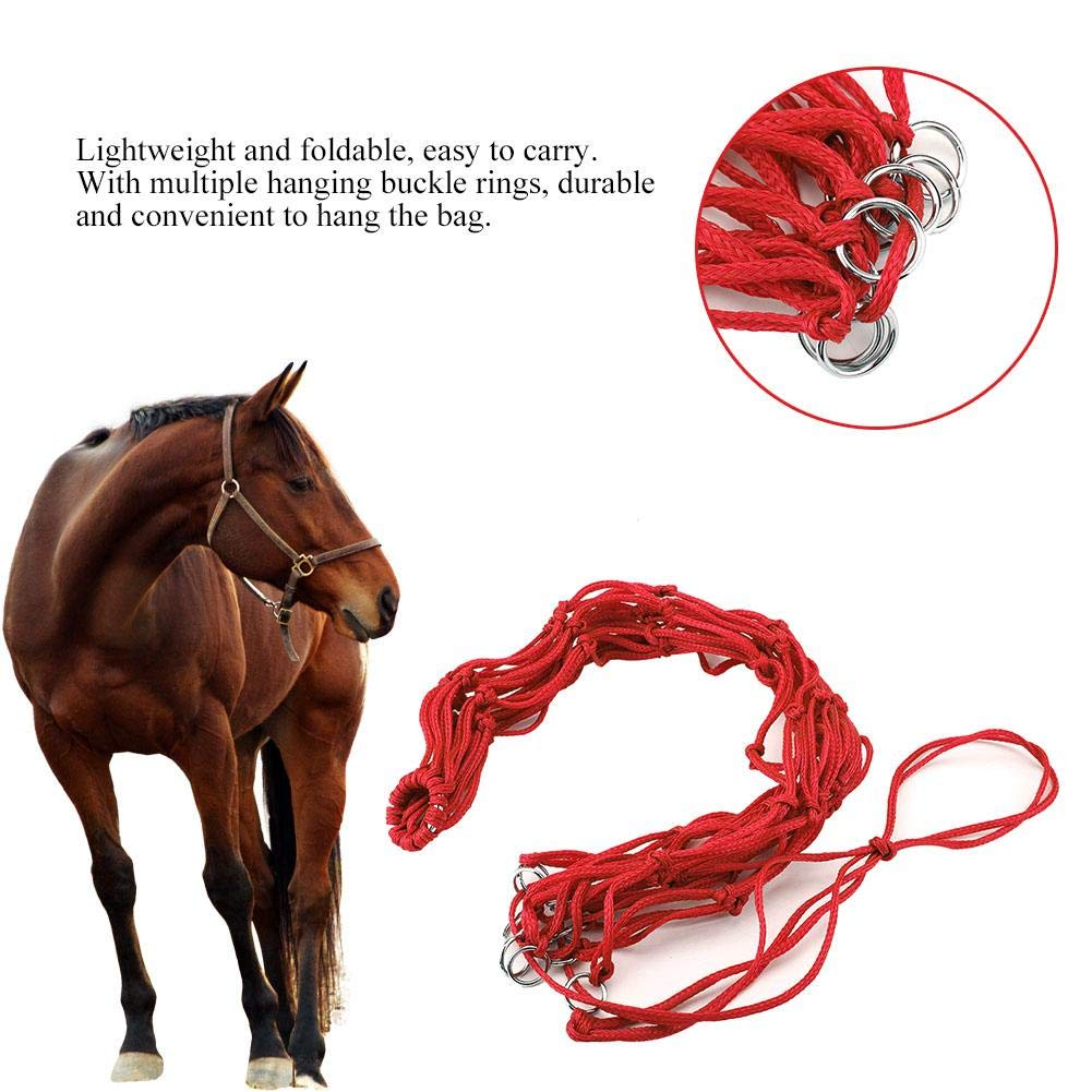 3 Color Slow Feed Hay Bag Large Tough Heavy Duty Poly Horse Hay Net/Horse Feeding Supplies Red