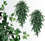 2 51'' Artifical Ivy Hanging Bush Silk Plants Wedding