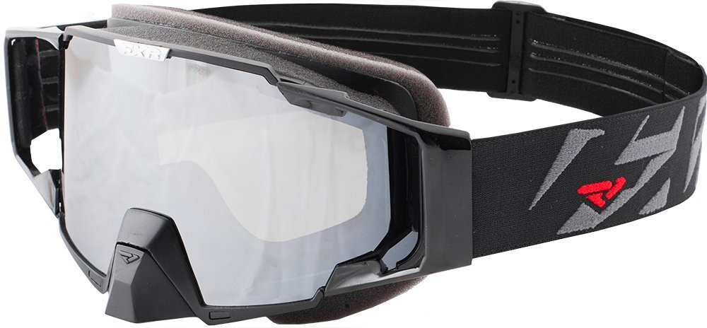FXR Pilot Snowmobile Double Lens Anti-fog Goggle Black/Charcoal