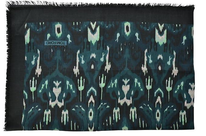 4b2eae4d7be Tom Ford Écharpe Homme Vert Multicolore Cachemire 124 cm x 122 cm   Amazon.fr  Vêtements et accessoires