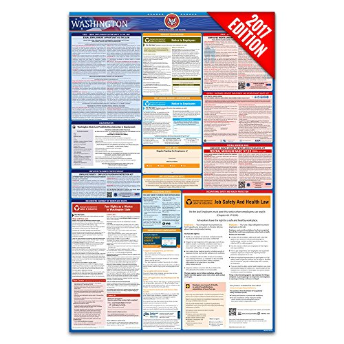 2017 Washington Labor Law Poster – State & Federal Compliant – Laminated