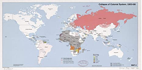 Amazon.com - 1978 Map Collapse of Colonial System, 1953-68 ...
