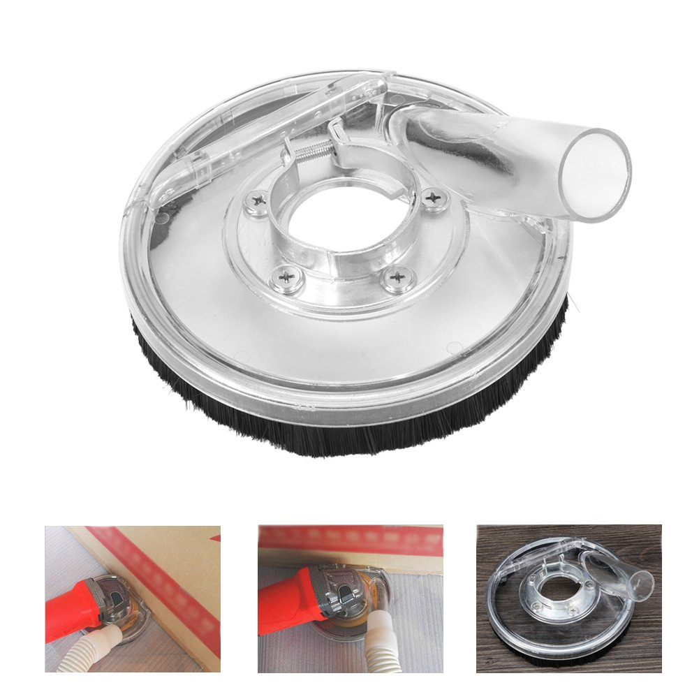 Dust Shroud Kit Dry Grinding Dust Cover for 4''/ 5'' Angle Grinders and Wet Polisher Concrete Grinding Diamond Cup Wheels Hand Grinder Power Tool Accessories by Yosoo (Image #6)