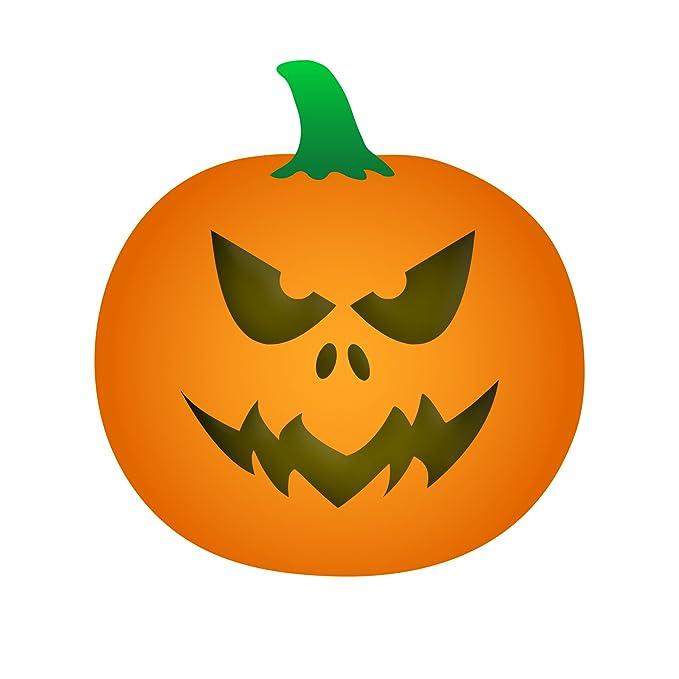 Halloween Calabaza cara vinilo adhesivo - Lote de plantillas para Cut Outs desposable nariz ojos boca Jack caras de corte herramientas de trinchar: ...