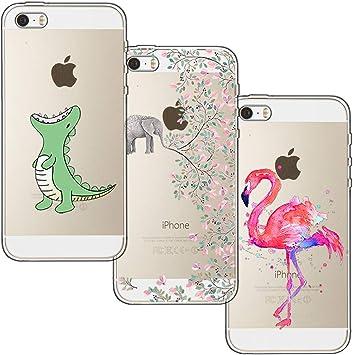 [3-Pièces] Coque iPhone 5, Coque iPhone 5S, iPhone SE, blossom01 Ultra Mince Cute Motif Premium TPU Souple Etui de Protection pour iPhone 5 / 5S / SE ...