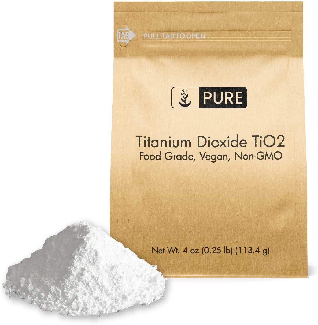 Titanium Dioxide TiO2 (4 oz.) by Pure Organic Ingredients, Eco-Friendly Packaging, Non-Nano, Food & USP Grade, Vegan, Non-GMO