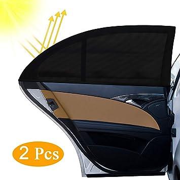 Otumixx Sonnenschutz Auto 2 Stück Universal Selbsthaftende Sonnenblende Auto Sonnenschutz Baby Kinder Uv Schutz Autofenster Sonnenschutzrollos Heckscheibe Für Schützt Mitfahrer Haustiere 126 X 52 Cm Auto