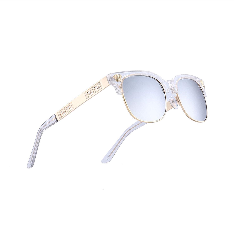 Clear X Smoke VITRU Medusa  Retro Rivet Sunglasses