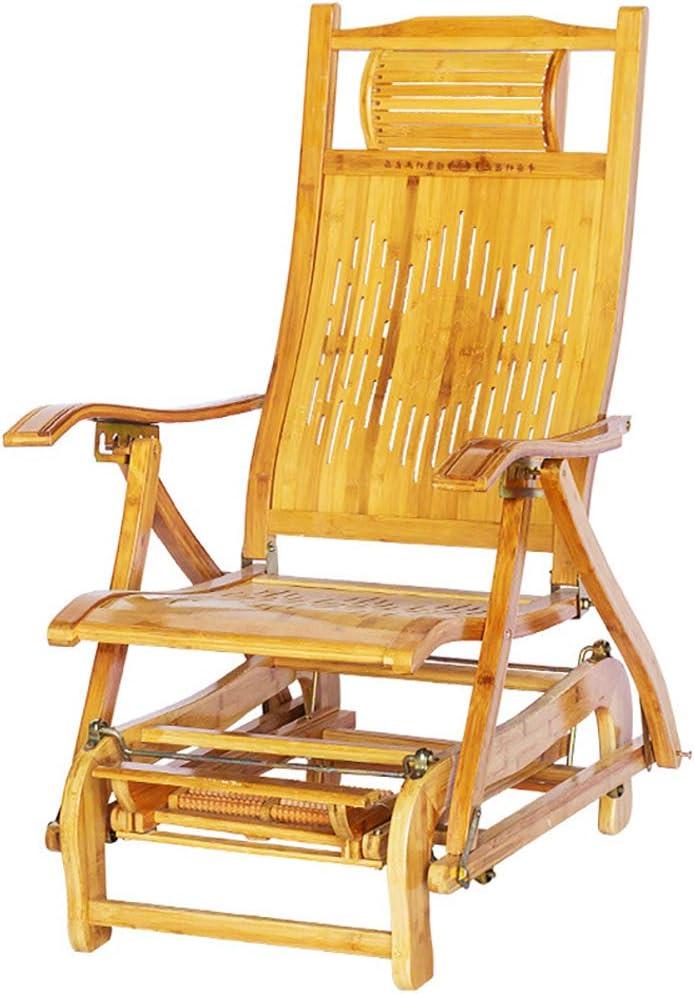Tumbona Silla de jardín, reclinable Plegable Silla de Tumbona Ajustable Extra Ancha Silla de Playa Tumbona Transpirable Jardín Interior Exterior Without Cushion