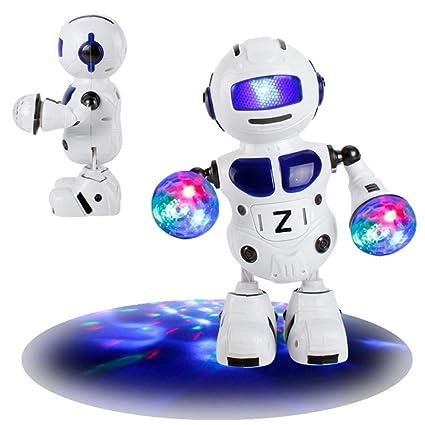 Electronic Walking Dancing Drum Smart Bot Robot Astronaut Kids Music Light Toys,