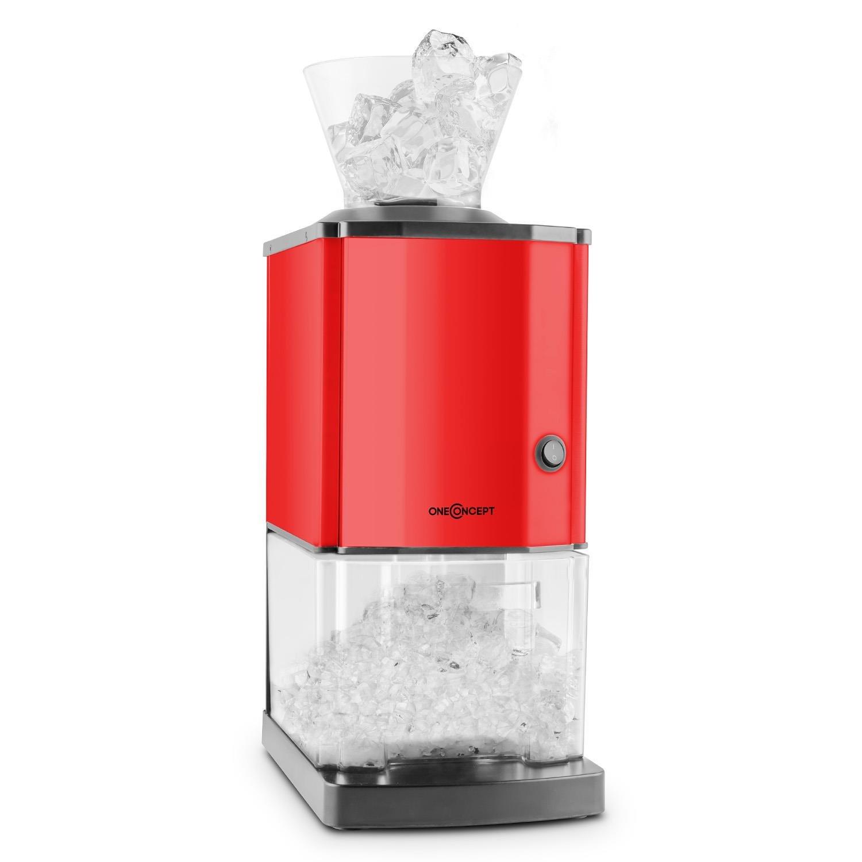 oneConcept Icebreaker • Broyeur à glace • Concasseur de glaçons • Icecrusher • 15 kg/h - 3,5L (env. 1,75 kg) Bac à glace • Entonnoir amovible • Interrupteur de sécurité • Pieds ventouses