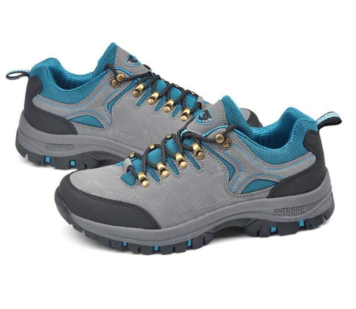 Oudan Deportes Zapatos Zapatos Zapatos al Aire Libre Use Zapatos Zapatos Zapatos Senderismo Zapatos Antideslizantes (Color : Azul, tamaño : 44) 90f70b