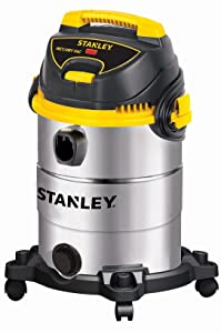 Stanley Wet/Dry Vacuum, 6 Gallon, 4.5 Horsepower, Stainless Steel Tank