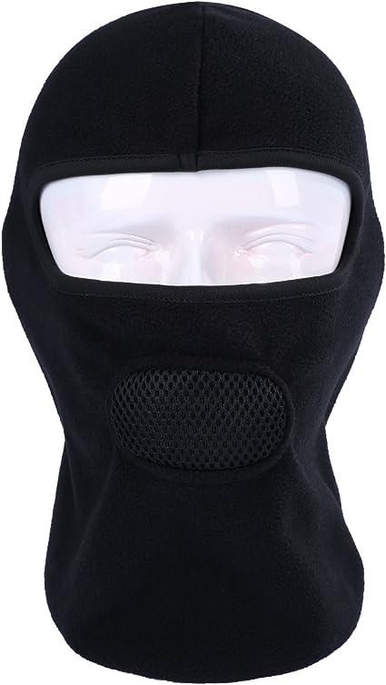 Sturmhaube Winter Maske Polar Fleece Winddicht Skimaske Für Männer Frau Motorrad Gesichtsabdeckung Radfahren Gesichtsmaske Atmungsaktiv Taktische Sturmhaube Vollgesichts Schwarz Bekleidung