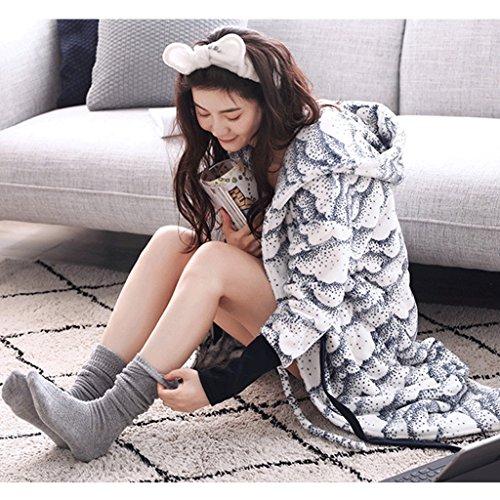 ZLR Inverno Lady Sleep Robe Hooded Sveglio Accappatoio morbido Moda casual caldo pigiama ( dimensioni : Xl )