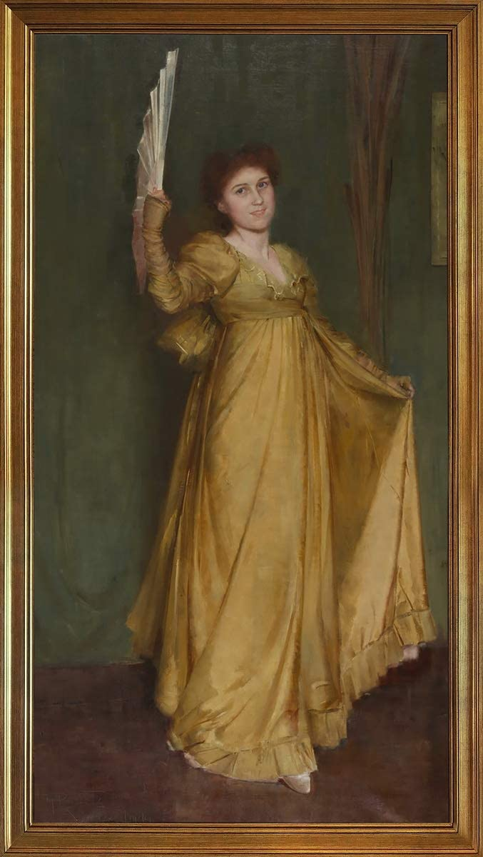 Berkin Arts Classic Framed Tom Roberts Giclee Canvas Print Paintings Poster Reproduction(Practising The Minuet Miss Hilda Spong) #JK