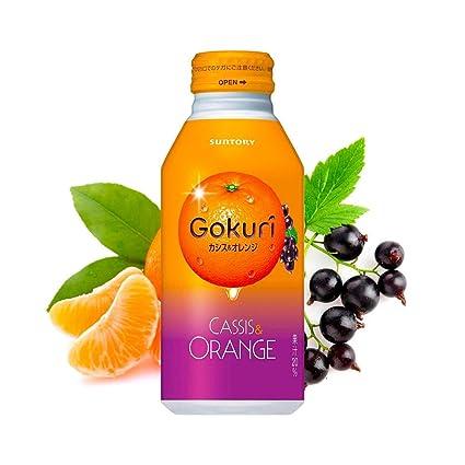 Amazon Com 4 X Suntory Gokuri Cassis Orange Pulps Nectar 400g