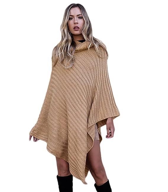 Punto Wangyang Jerseys Señoras Poncho Suéter Grueso De Suelta Mujeres Pullover Prendas Cabo Capa Chales wPaPrqx0df