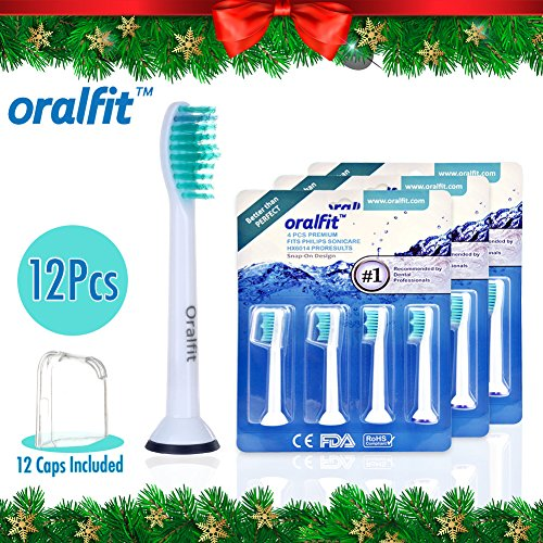 Price comparison product image Generic Replacement Toothbrush Heads Philips Sonicare HX6014 HX6013 ProResults 12 pcs Fit DiamondClean HealthyWhite EasyClean FlexCare Soft Bristles Gum Plaque Control