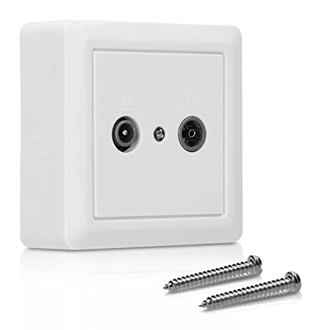 kwmobile Double TV/FM Wall Socket - Twin TV Aerial Socket