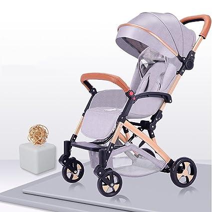 Carrito De Bebé Puede Sentarse / Mentir Ligero Paraguas Plegable Trolley Amortiguación De Choque De Espuma