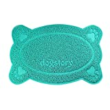 ORMIA Quality Cat Litter Collection Pad, Easy to Clean, Soft Sensitive Kitty Claw Toilet Anti-slip Mat (blue, bone)