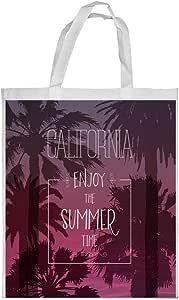 enjoy the summer time Printed Shopping bag, Large Size