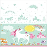 Wanna Party Magical Unicorn Tablecover 54 Inch x 108 Inch, Pink