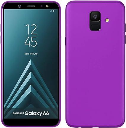 TBOC® Funda de Gel TPU Morada para Samsung Galaxy A6 (2018) A600F ...