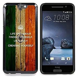 GIFT CHOICE / Teléfono Estuche protector Duro Cáscara Funda Cubierta Caso / Hard Case for HTC One A9 // Life Finding Yourself Creating Quote Motivational //