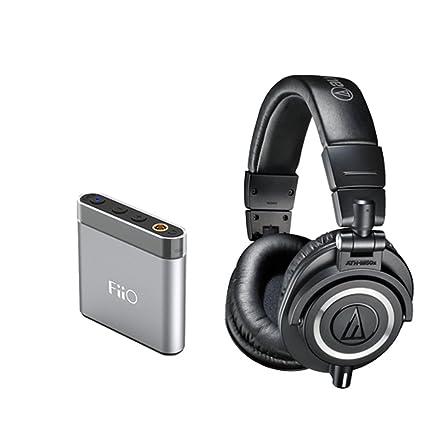 d4dd891272a Amazon.com: Audio-Technica ATH-M50x Professional Monitor Headphones + Fiio  A1 Headphone Amp: Musical Instruments