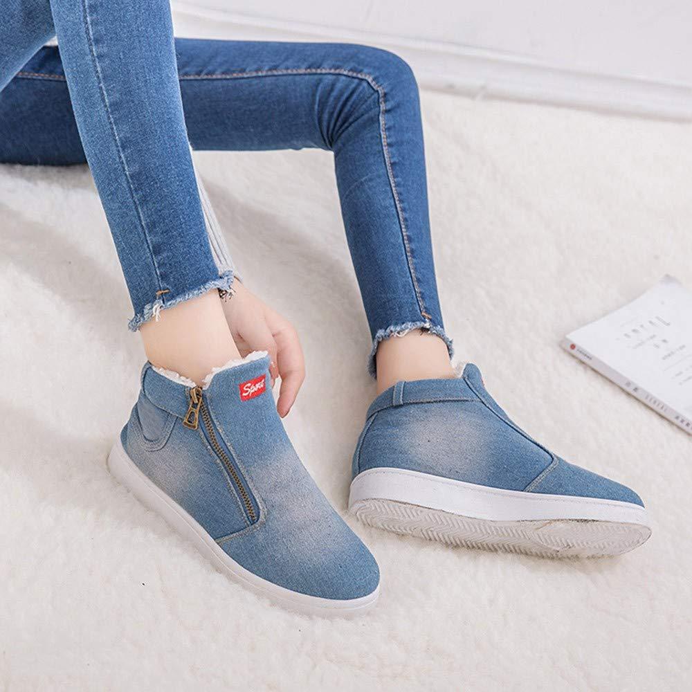 Botines cuña Militares para Mujer Otoño Invierno 2018 Moda PAOLIAN Botas Planos Zapatos Escolares Señora Calzado Dama Tallas Grandes Botas de Nieve Caliente ...
