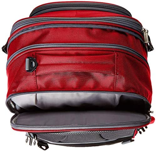 AmazonBasics Carry-On Travel Backpack - Red