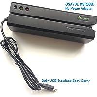 OSAYDE608D 1 X Newest USB Mac OS Encoder Credit Magstrip Swipe Reader Data Collector 3 tracks HiCo Magnetic Strip Card Reader Writer Upgraded OSAYDE606 OSAYDE605 OSAYDE605X OSAYDE206 with 20 Blank Cards
