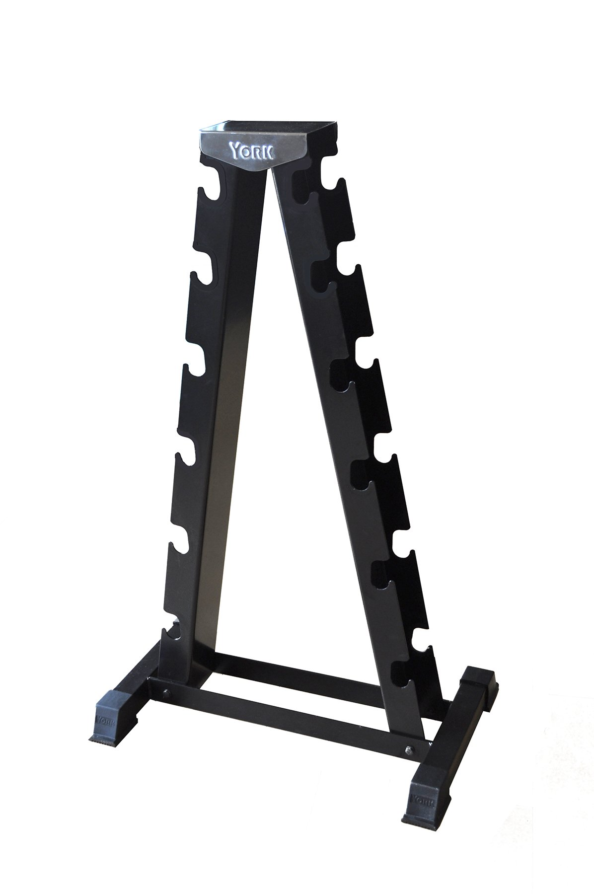 SPRI Deluxe Rubber Dumbbell A-Frame Rack by SPRI