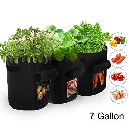 Amazon.com: Homeself - Bolsa de cultivo de patata, 3 ...