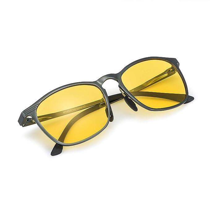 Gafas De Sol Amarillas Conducir Nocturnas para Mujer Polarizadas - Protección UV 400 (Gris)